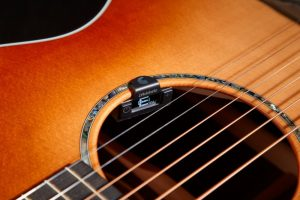 D'Addario Micro NS Soundhole guitar tuner on an acoustic