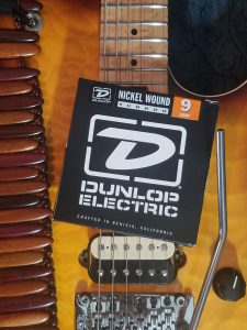 Dunlop strings with EVH guitar.