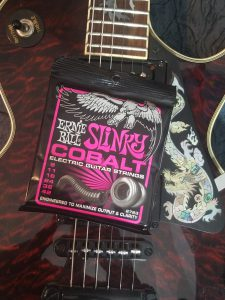 Slinky Cobalt strings with Serpent guitar.