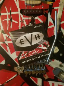 "EVH strings on ""Frankenstrat"""