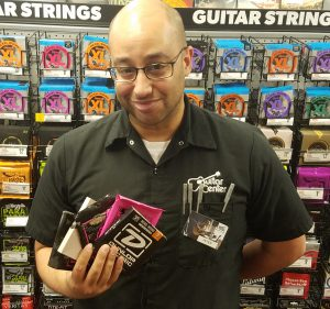 Peter at Guitar Center, Southfield
