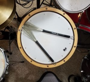 A snare coated head