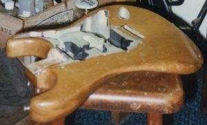 The insides of Teaj's '62 Strat