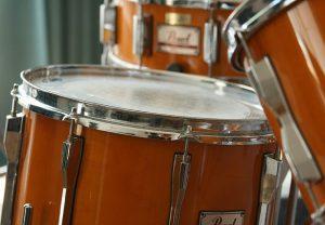Orange Pearl drum kit