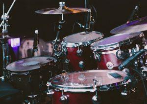 Deep red DW drum kit