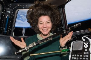 Astronaut Catherine Coleman knows what to take on vacation to space - a penny whistle!