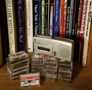 Micro-cassettes and recorder