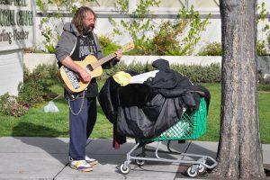Homeless musician