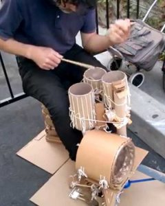 cardboard roll drums