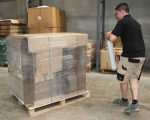shrink wrapping pallets