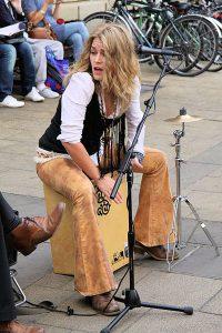 Heidi Joubert on cajon