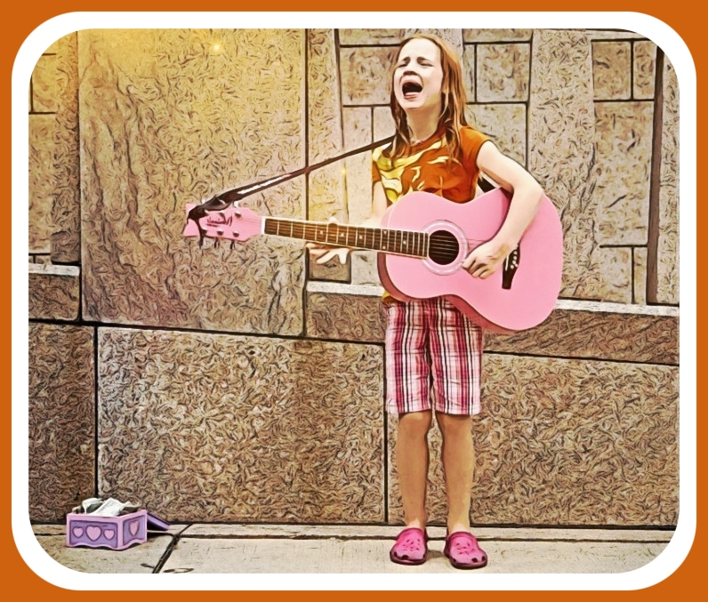 Easy guitar songs are great for little girl rockers