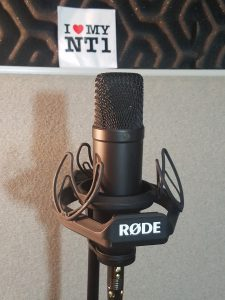 The NT1 in its shock mount