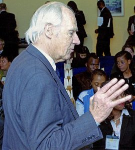 Sir George Martin lecturing