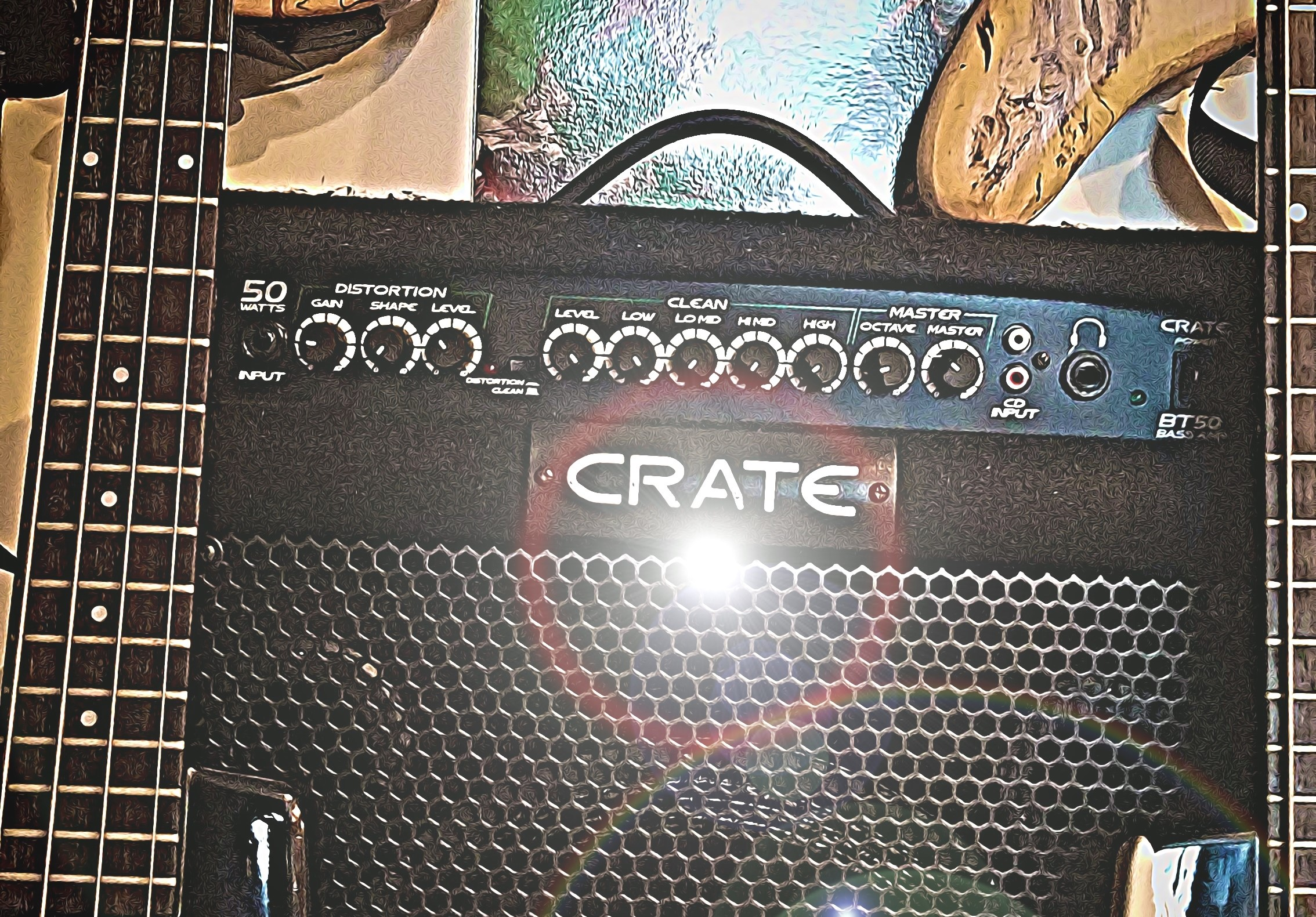 Crate Bass amp Close up