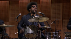Questlove on a Ludwig set