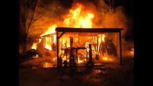 Wishbass shop on fire