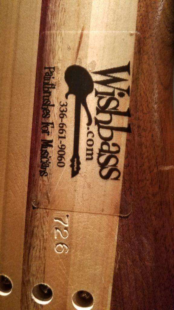 Wishbass label & serial #