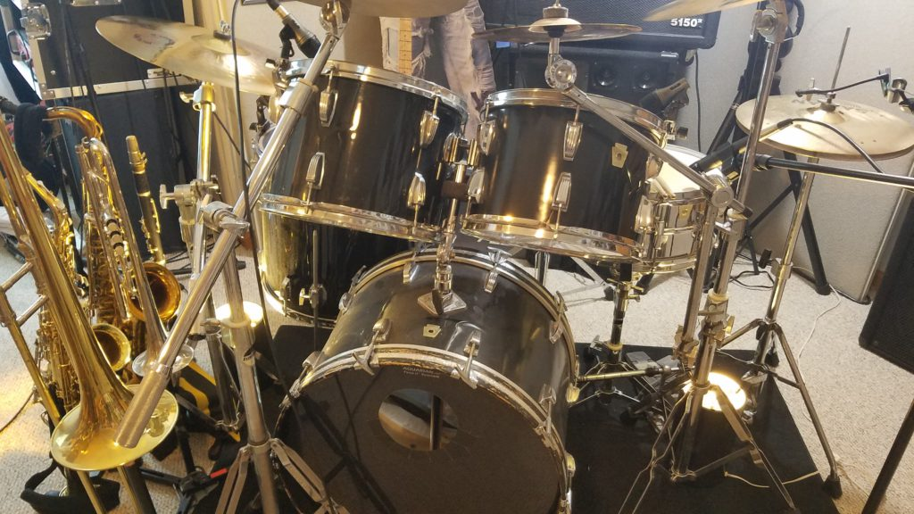 Ludwig drums from the front