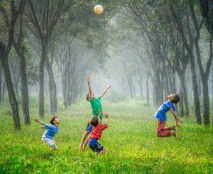 kids outdoor jumpin