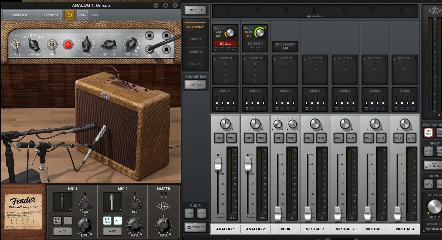 Apollo Fender Tweed plugin