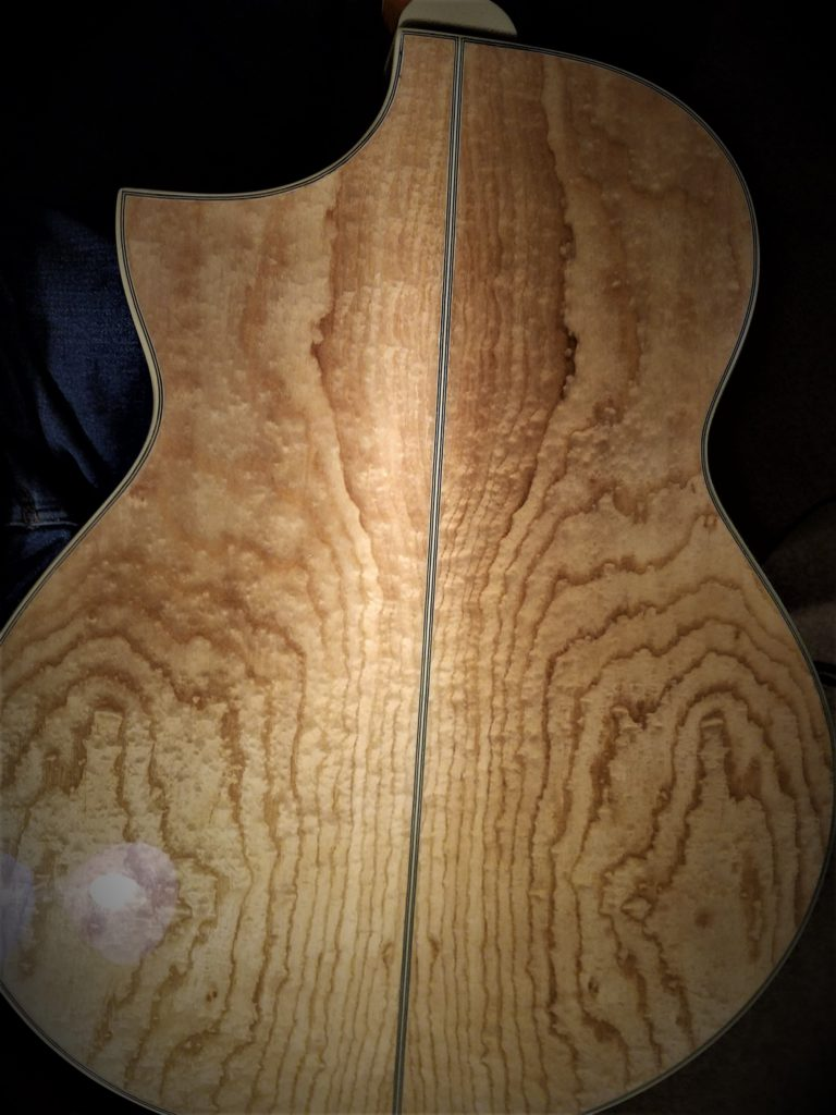 Ibanez acoustic guitar Back figure close-up