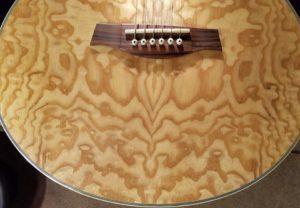 Ibanez acoustic guitar Figure close-up