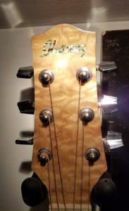 Ibanez EW acoustic headstock