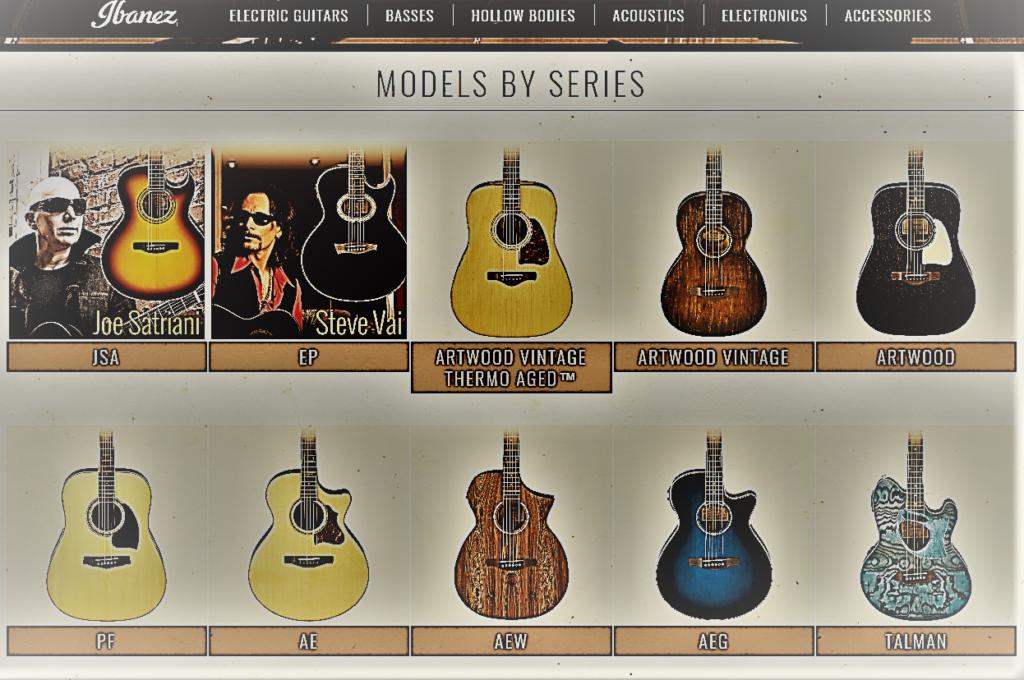 Ibanez acoustic guitar line