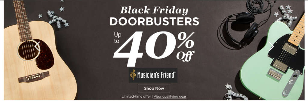 Musician's Friend Black Friday sale