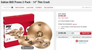 Sabian Cymbal sale!