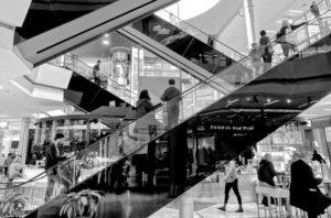 crowded black friday mall