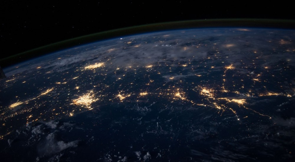 electric lights from space