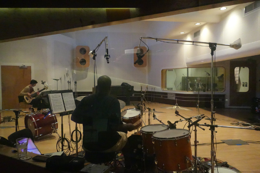 The Yellowjackets recording in Schnee Studio