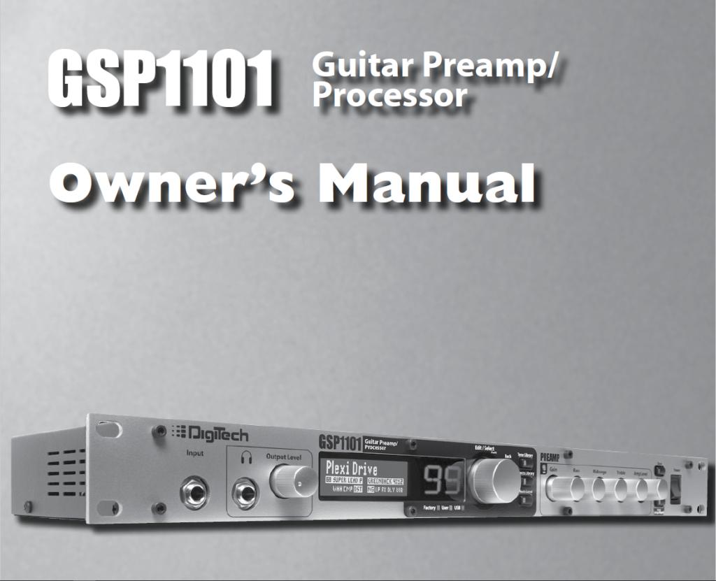 GSP1101 Manual