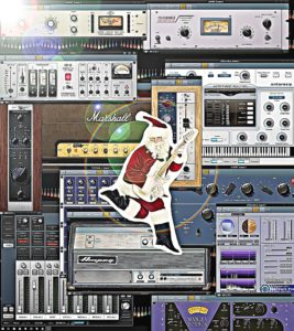 Plug ins Christmas with SANTA CARTOONED
