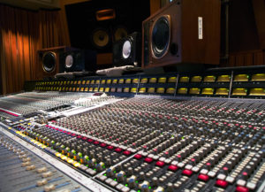 SSL console in studio