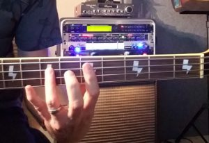 The 5th from the Minor 3rd up bass fingering