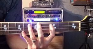 The Minor 3rd DOWN bass fingering