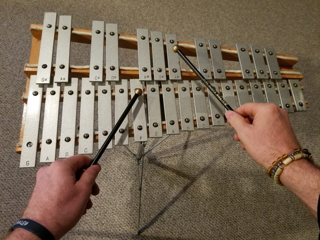 Glockenspiel playing