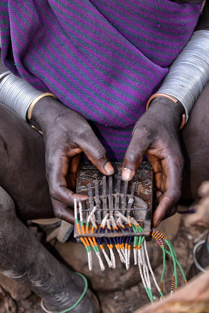 Kalimba played by Suri Tribe member