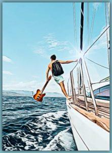 Hitchhike sailing CARTOONED