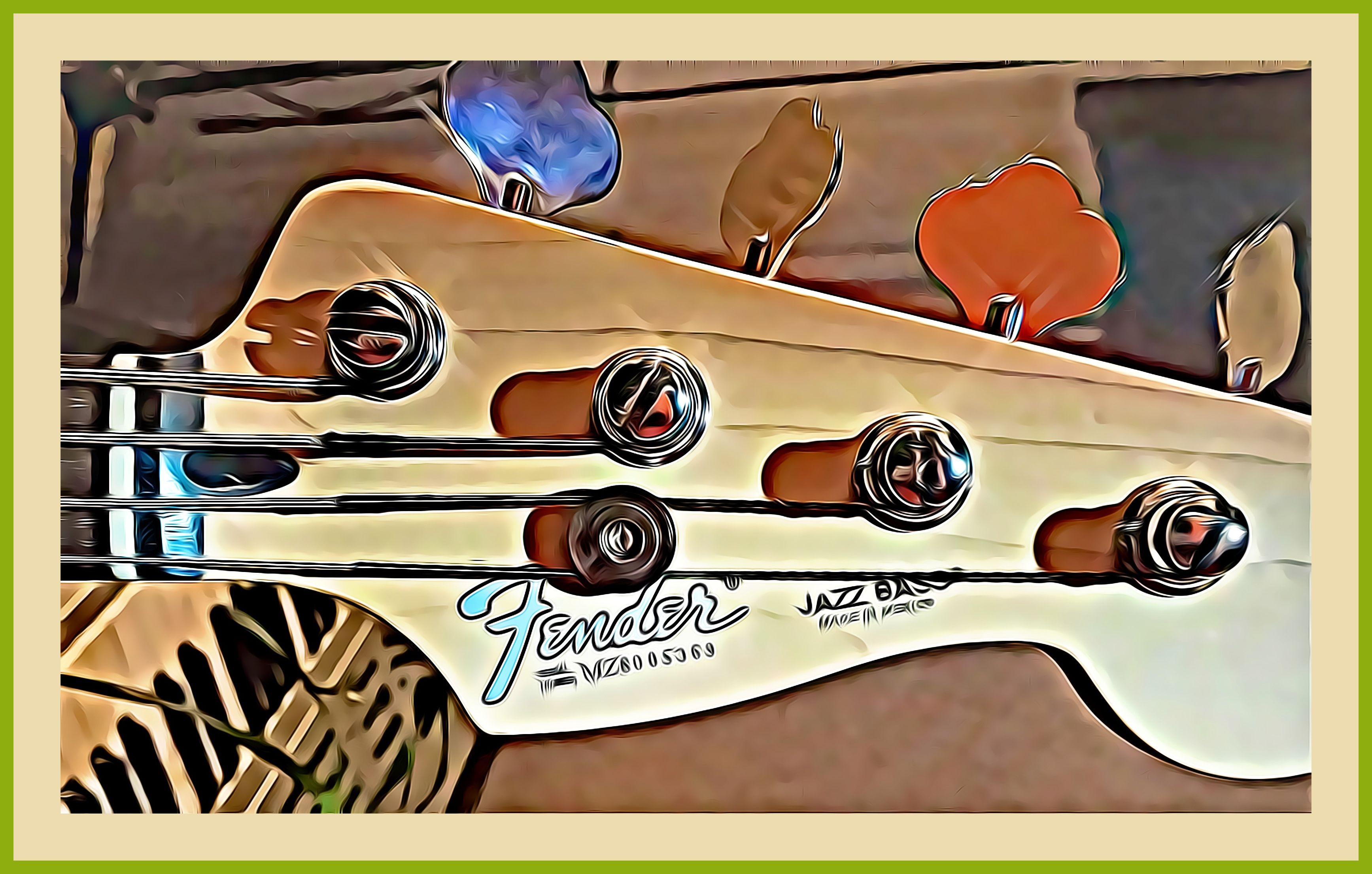 Jazz bass CARTOONED