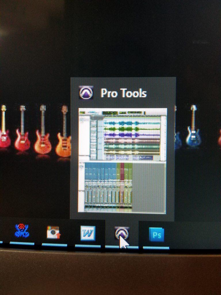 Pro Tools minimized