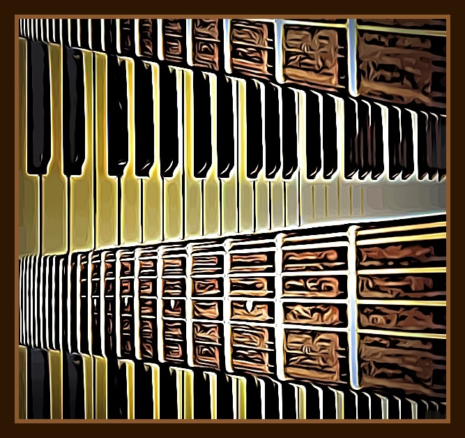 Guitar Frets & Keys HORIZONTAL
