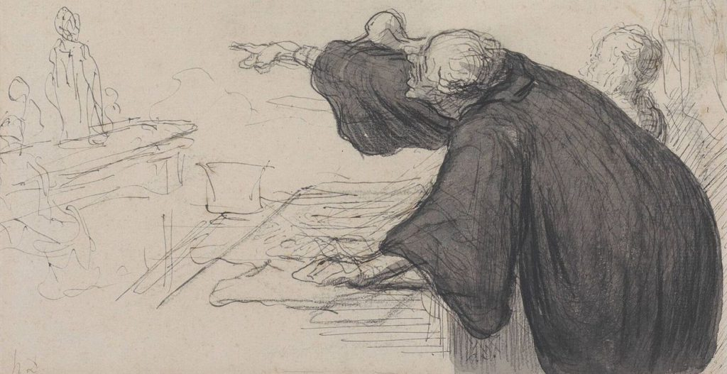 "Honore Daumier ""L'argument"""