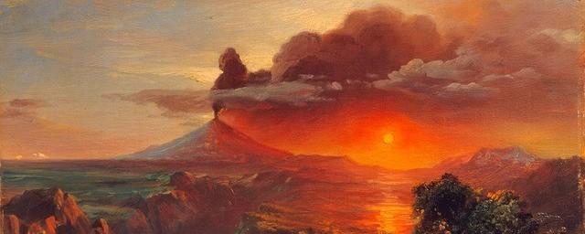 Volcano and sun