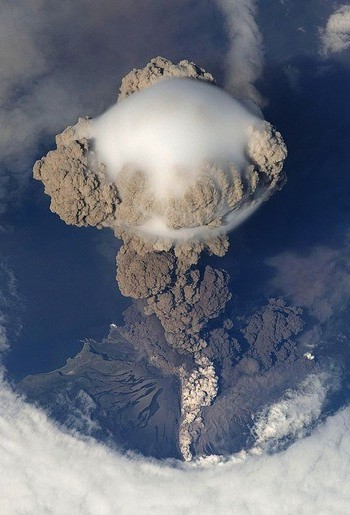 Volcano from above