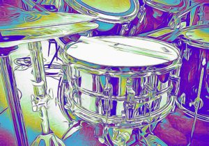 Ludwig-Supraphonic-snare CARTOONED